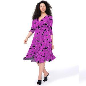 NWOT• Leota Mae Stretch Jersey Curve Petunia Dress